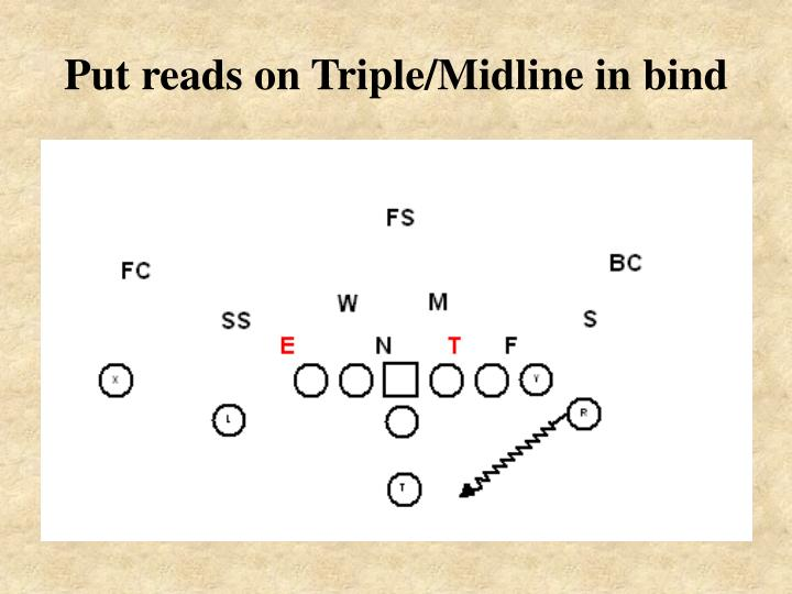 Put reads on Triple/Midline in bind