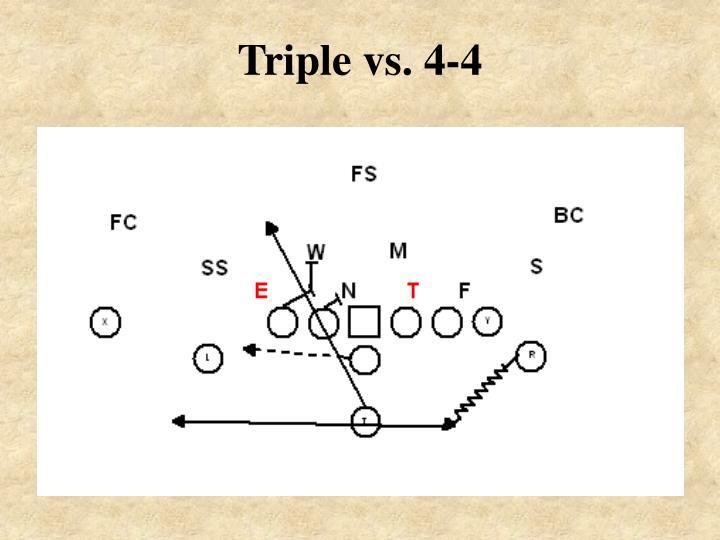 Triple vs. 4-4