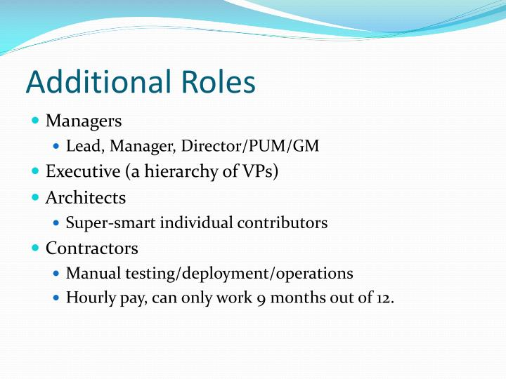Additional Roles