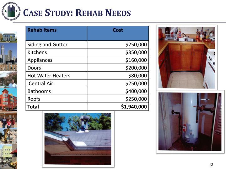 Case Study: Rehab Needs