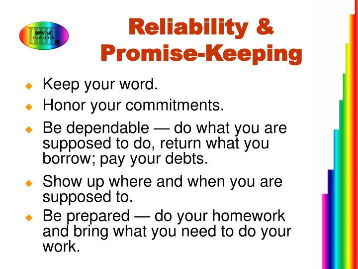 Reliability &
