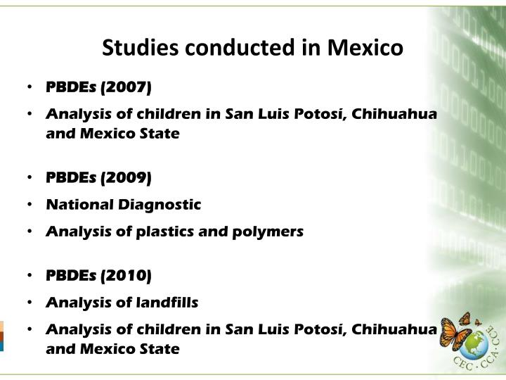 Studies conducted in Mexico