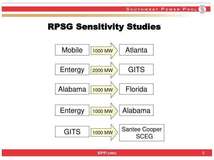 RPSG Sensitivity Studies