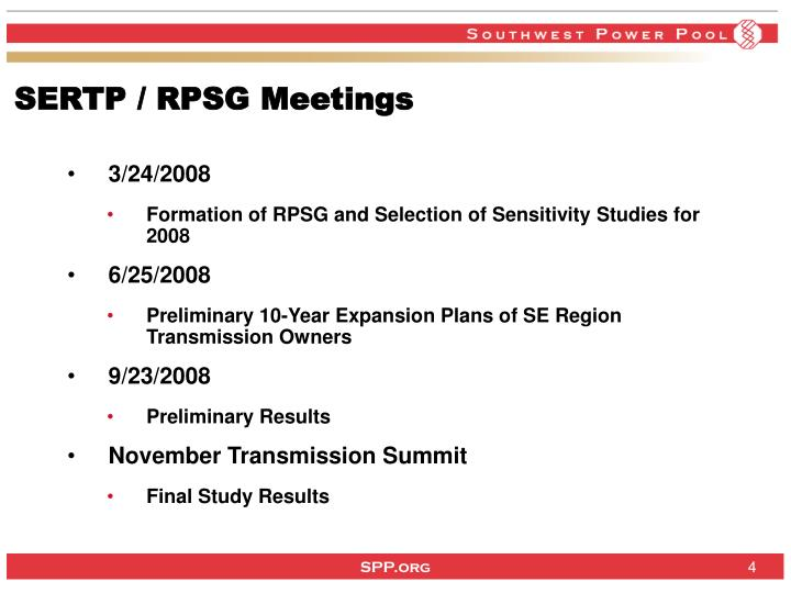 SERTP / RPSG Meetings