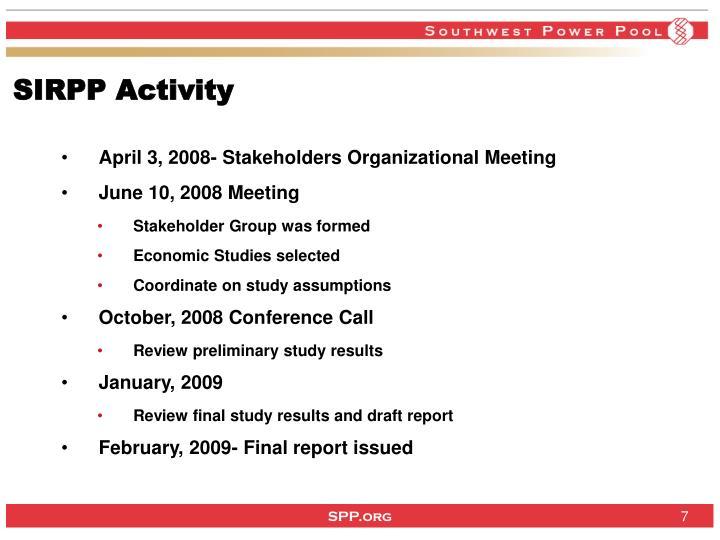 SIRPP Activity