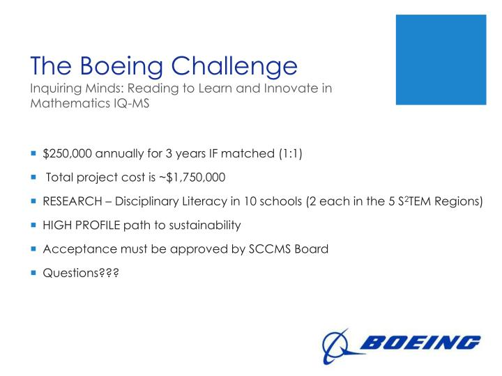 The Boeing Challenge
