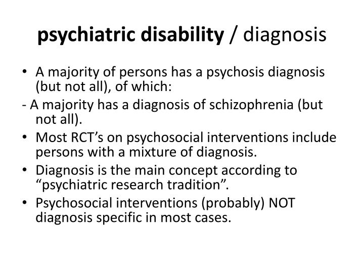 psychiatric disability