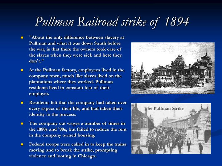 Pullman Railroad strike of 1894