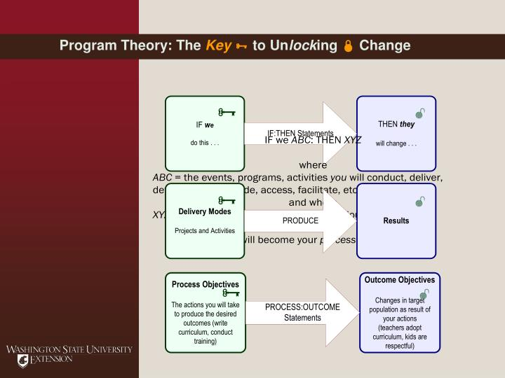 Program Theory: The
