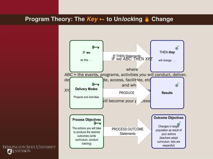 Program Theory: The