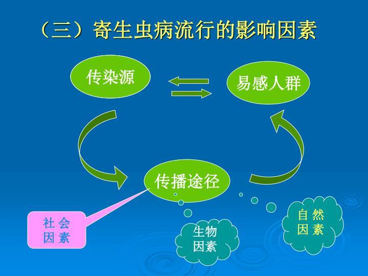 (三)寄生虫病流行的影响因素