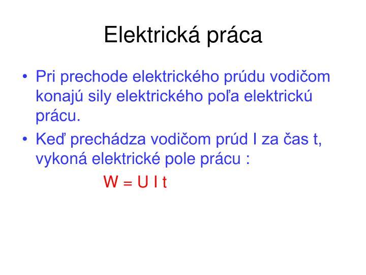 Elektrická práca