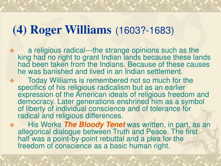 (4) Roger Williams