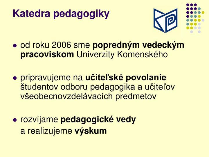 Katedra pedagogiky