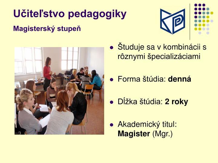 Učiteľstvo pedagogiky