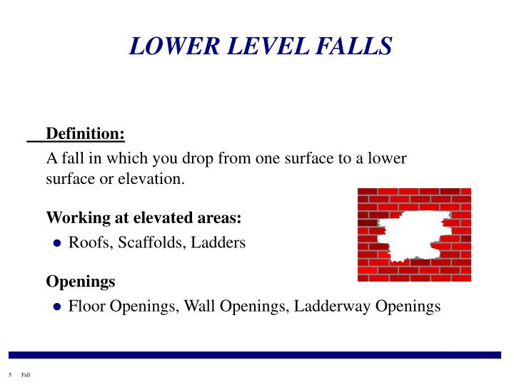 LOWER LEVEL FALLS