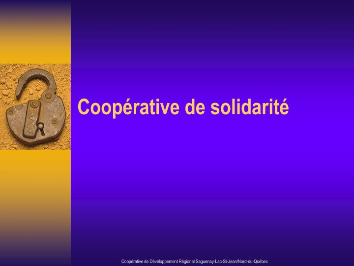 Coop rative de solidarit