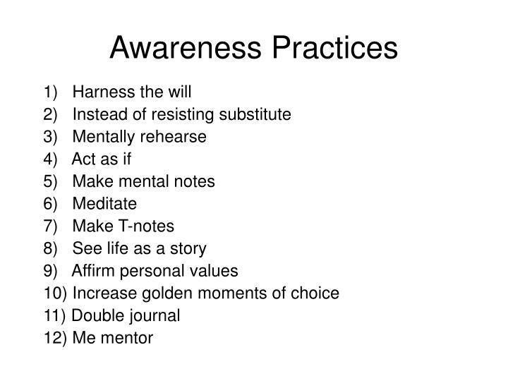 Awareness Practices