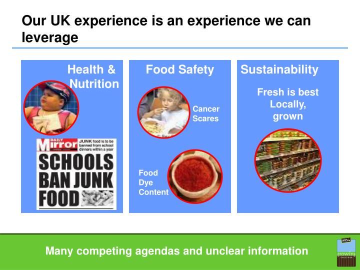 Our UK experience is an experience we can leverage