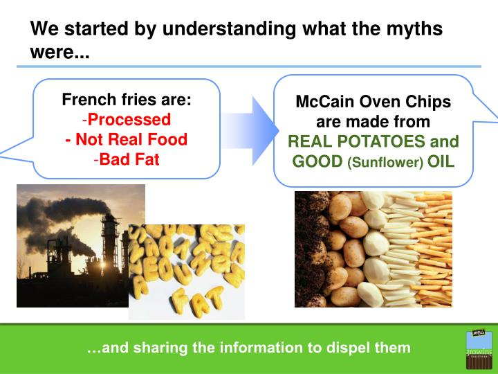 We started by understanding what the myths were...