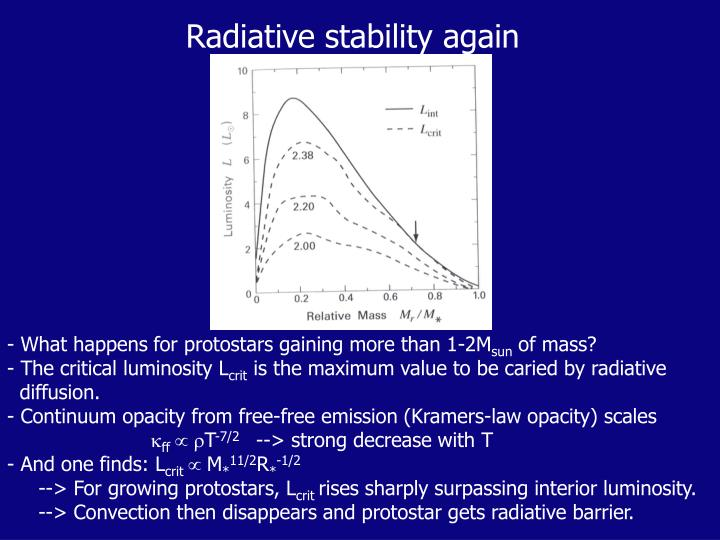 Radiative stability again