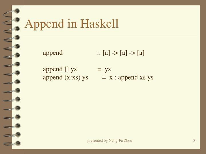 Append in Haskell