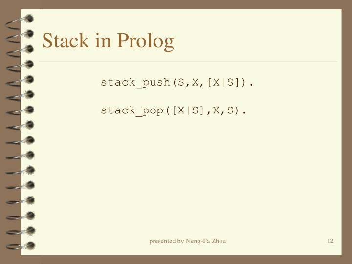 Stack in Prolog