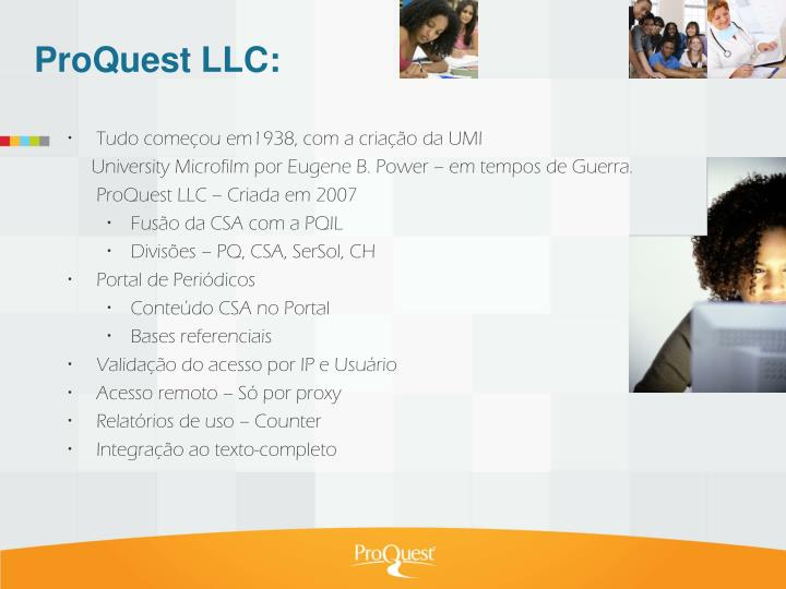 ProQuest LLC: