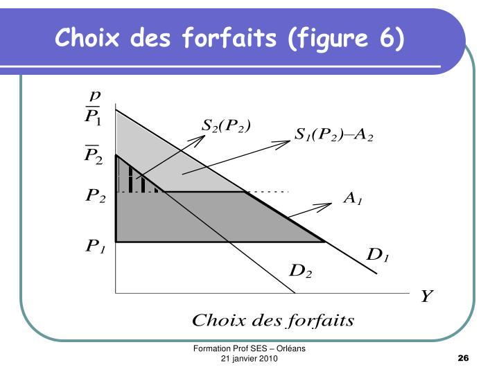Choix des forfaits (figure 6)