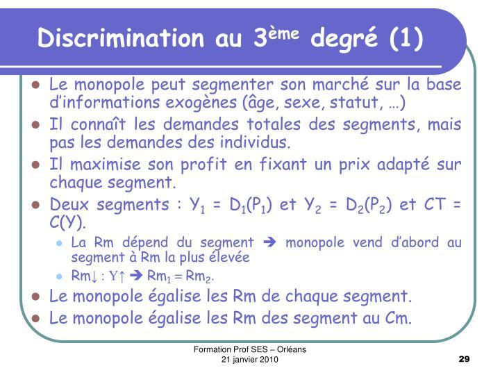 Discrimination au 3
