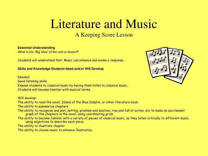 Literature and music a keeping score lesson1