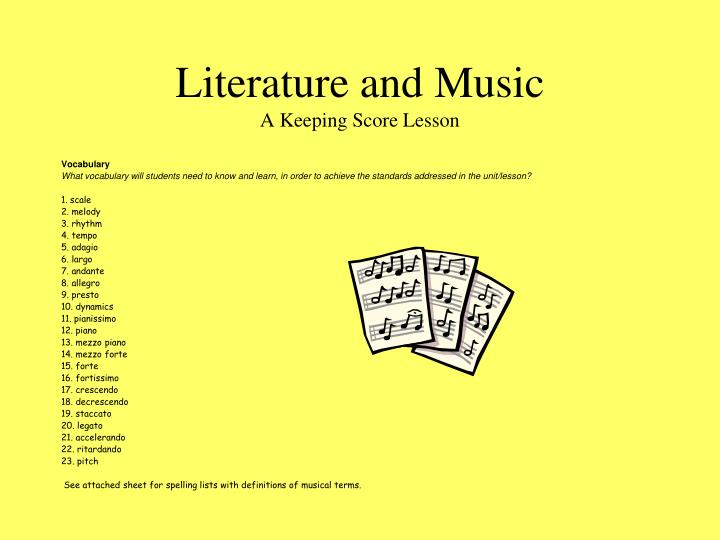 Literature and Music