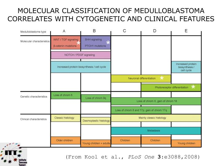MOLECULAR CLASSIFICATION OF MEDULLOBLASTOMA