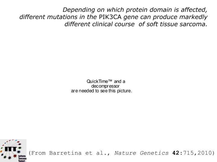 Depending on which protein domain is affected,