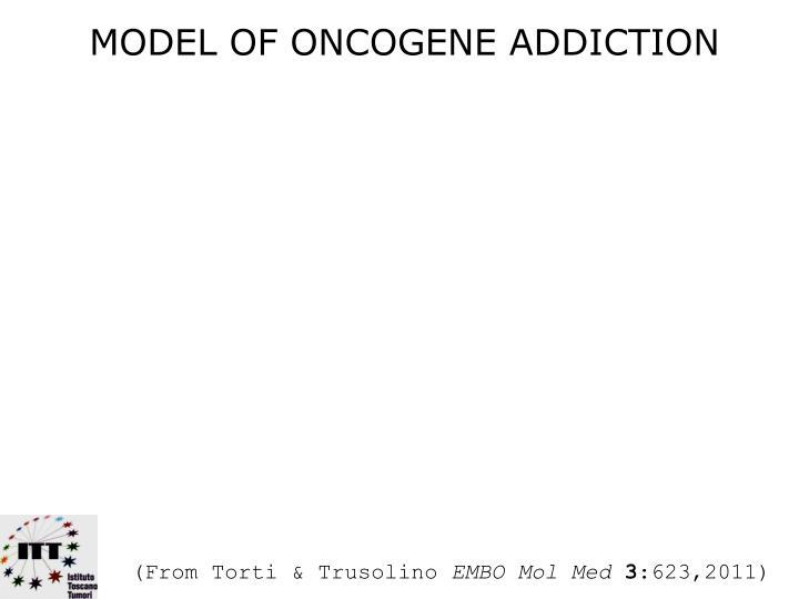 MODEL OF ONCOGENE ADDICTION