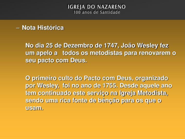 Nota Histórica
