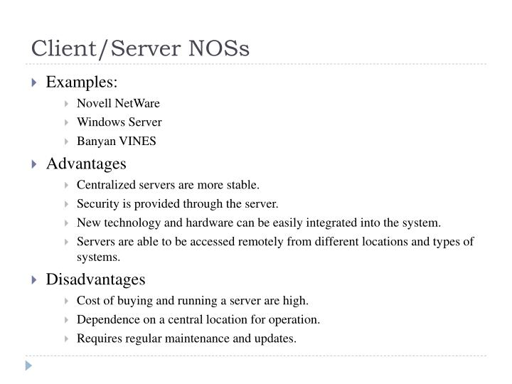 Client/Server NOSs