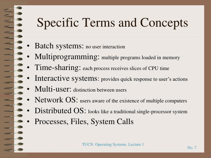 Specific Terms and Concepts