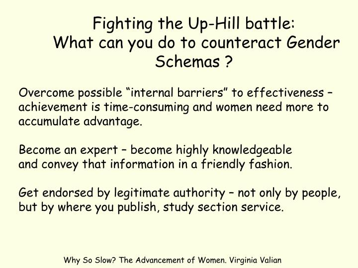 Fighting the Up-Hill battle: