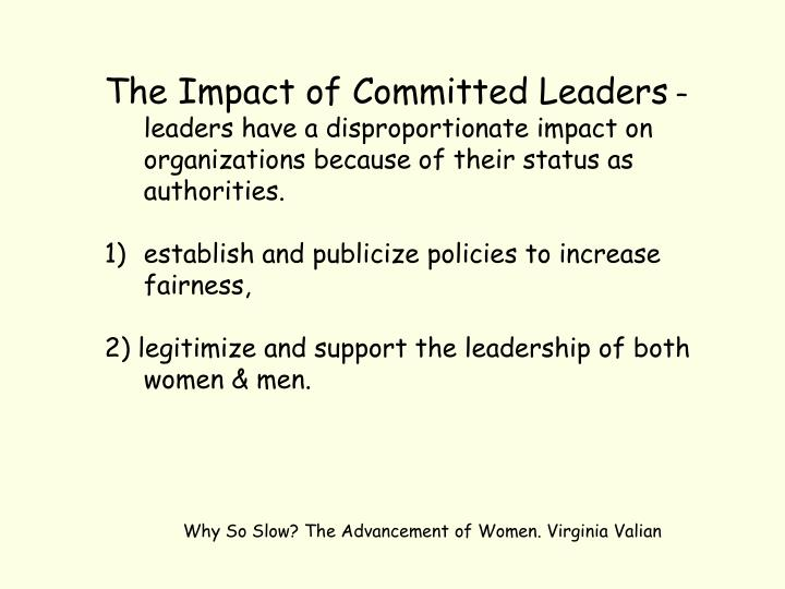 The Impact of Committed Leaders