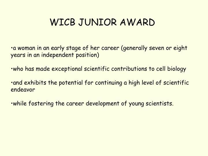 WICB JUNIOR AWARD
