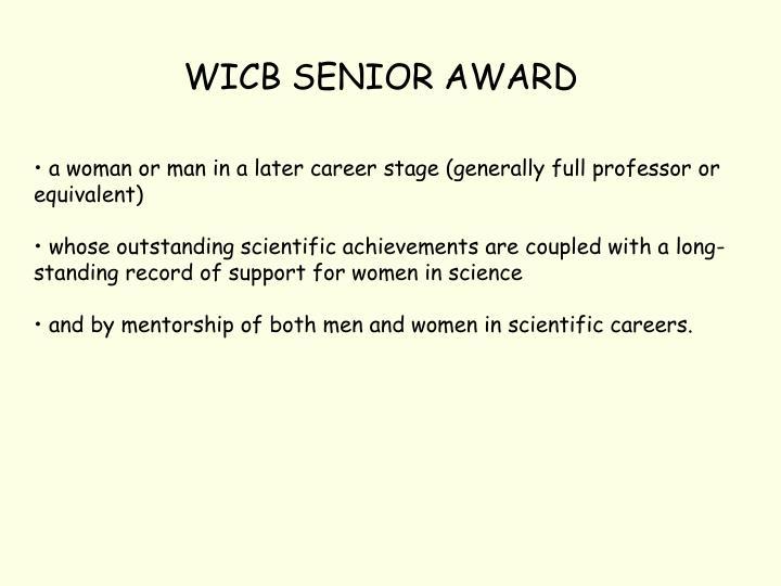 WICB SENIOR AWARD