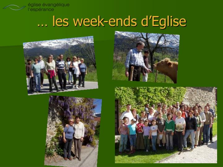 … les week-ends d'Eglise