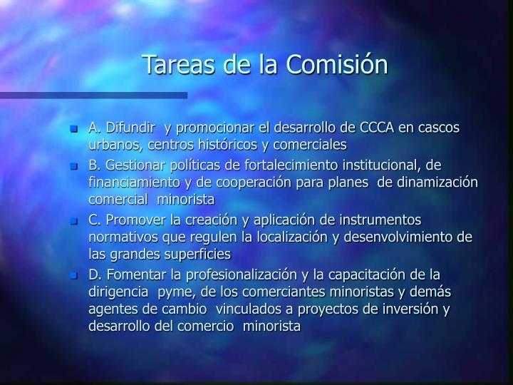 Tareas de la Comisión