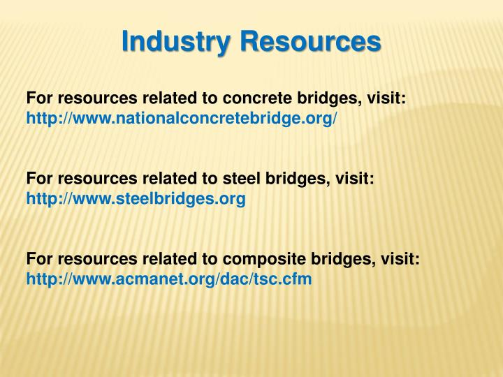 Industry Resources