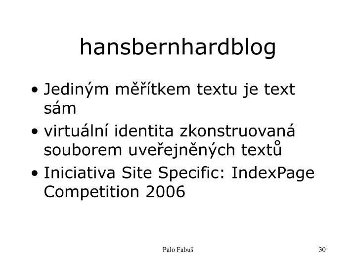 hansbernhardblog
