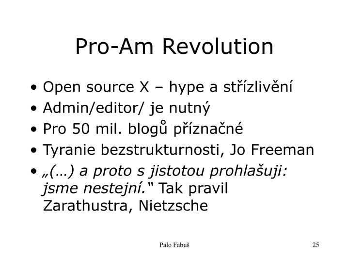 Pro-Am Revolution