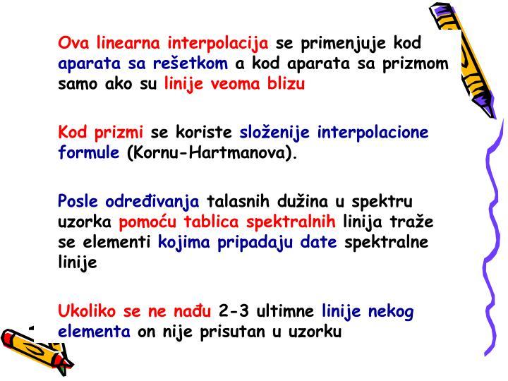 Ova linearna interpolacija