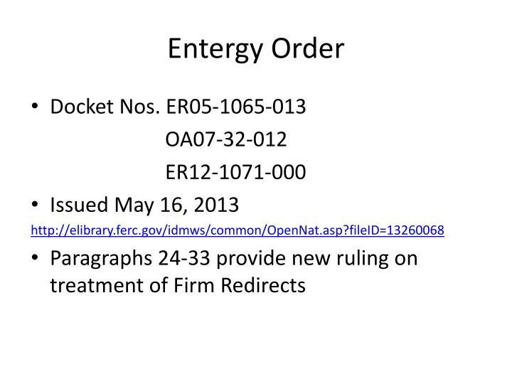 Entergy Order