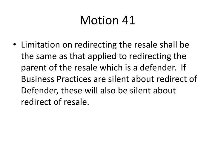 Motion 41
